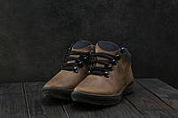 Мужские кроссовки кожаные зимние оливковые CrosSAV 92, фото 1