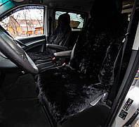 Накидка на сиденье автомобиля из натуральной овечьей шкуры, черный 100%