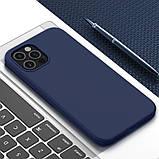 Магнитный силиконовый чехол Nillkin для iPhone 12 / 12 Pro (6.1″) Flex Pure Pro Magnetic Case Blue, фото 5