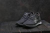 Мужские кроссовки кожаные зимние черные-серые CrosSAV 121, фото 1