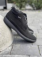 Мужские ботинки замшевые зимние черные Vankristi 928, фото 1
