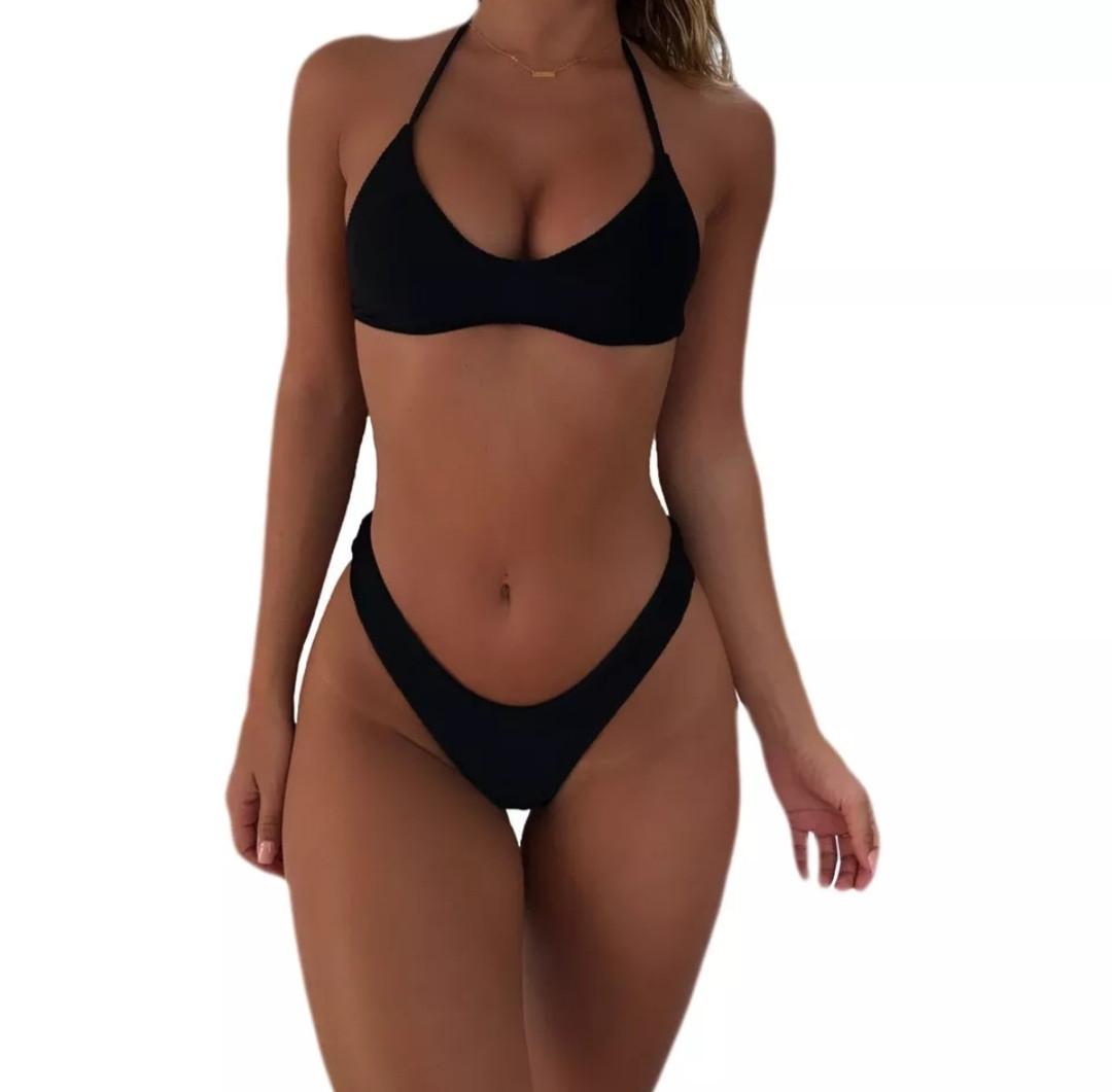 Черный раздельный купальник бикини размер М