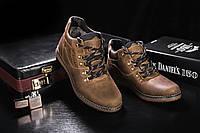 Мужские ботинки кожаные зимние оливковые Yuves 600, фото 1