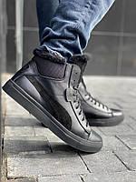 Мужские ботинки кожаные зимние черные New Man P26-1, фото 1