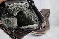 Мужские ботинки кожаные зимние коричневые Rivest 30к, фото 1