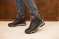 Мужские ботинки кожаные зимние черные Barzoni 240, фото 1
