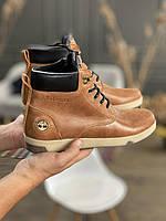 Мужские ботинки кожаные зимние рыжие Yuves 772, фото 1