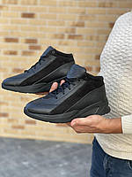 Мужские ботинки кожаные зимние черные Trike 045, фото 1
