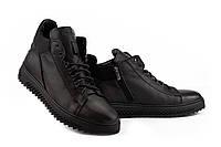 Мужские ботинки кожаные зимние черные Zangak 150 чл, фото 1
