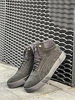 Мужские ботинки замшевые зимние черные Nev-Men P1-2, фото 1