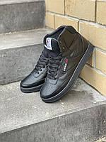 Подростковые кеды кожаные зимние черные CrosSAV 300 Classik, фото 1