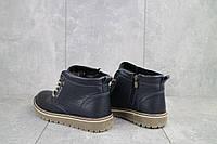 Подростковые ботинки кожаные зимние синие Anser 65, фото 1