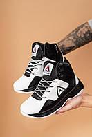 Детские кроссовки кожаные зимние белые-черные CrosSAV 317 Sport