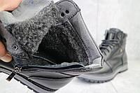 Мужские ботинки кожаные зимние черные Maxus KET 3, фото 1