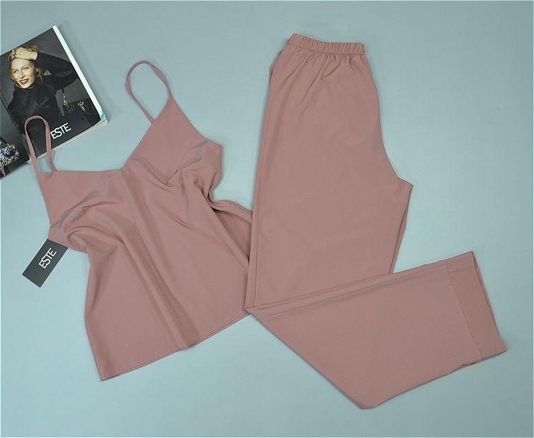 Женский пижамный комплект майка штаны Este однотонный .