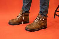 Мужские ботинки кожаные зимние оливковые Riccone 315, фото 1