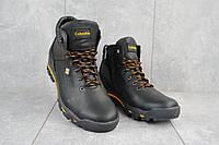 Мужские ботинки кожаные зимние черные Barzoni 330, фото 1