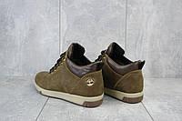 Мужские ботинки кожаные зимние оливковые Yuves 773, фото 1