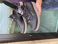 Подростковые кроссовки кожаные зимние черные Splinter Boy 1517 Sport Line, фото 1