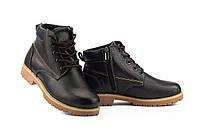 Подростковые ботинки кожаные зимние коричневые Yuves 444, фото 1