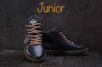 Подростковые ботинки кожаные зимние синие Milord Olimp, фото 1