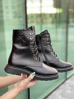 Женские ботинки кожаные зимние черные U Spirit 5024