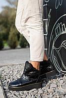 Женские ботинки кожаные зимние черные Best Vak УГ-43/1-01L, фото 1