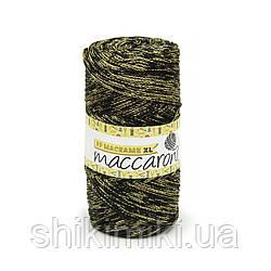 Трикотажный шнур PP Macrame Medium Melange, цвет Черно-золотой