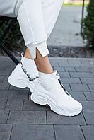 Женские ботинки кожаные зимние белые Best Vak БЖ 46-06, фото 1