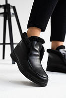 Женские ботинки кожаные зимние черные Yuves 305 Z вис, фото 1