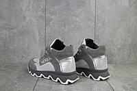 Женские ботинки кожаные весна/осень серые BENZ 50302,1, фото 1