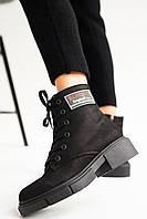 Женские ботинки кожаные зимние черные-матовые Topas Casual 11113, фото 1