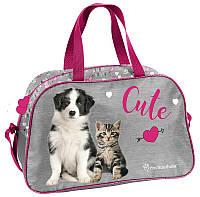 Спортивная детская сумка с котенком и щенком 13L Paso