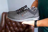Мужские кроссовки кожаные весна/осень черные CrosSAV 92, фото 1