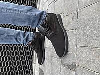 Мужские ботинки замшевые зимние черные Vankristi 650, фото 1