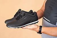 Мужские кроссовки кожаные весна/осень черные Clubshoes К1, фото 1