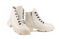 Женские ботинки кожаные зимние бежевые U Spirit 5037, фото 1