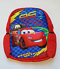 Детский рюкзак мягкий для мальчика Тачки 3Д красный Код К-1