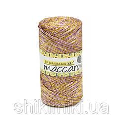 Трикотажный шнур PP Macrame Medium Melange, цвет  Золотисто-лиловый