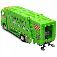 Машинка игровая автопром «Мусоровоз» (зеленый), 20х5х7 см (7824), фото 8