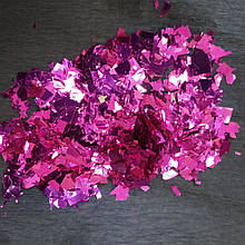 Аксесуари для свята конфеті мішура малиновий металік 100 грам