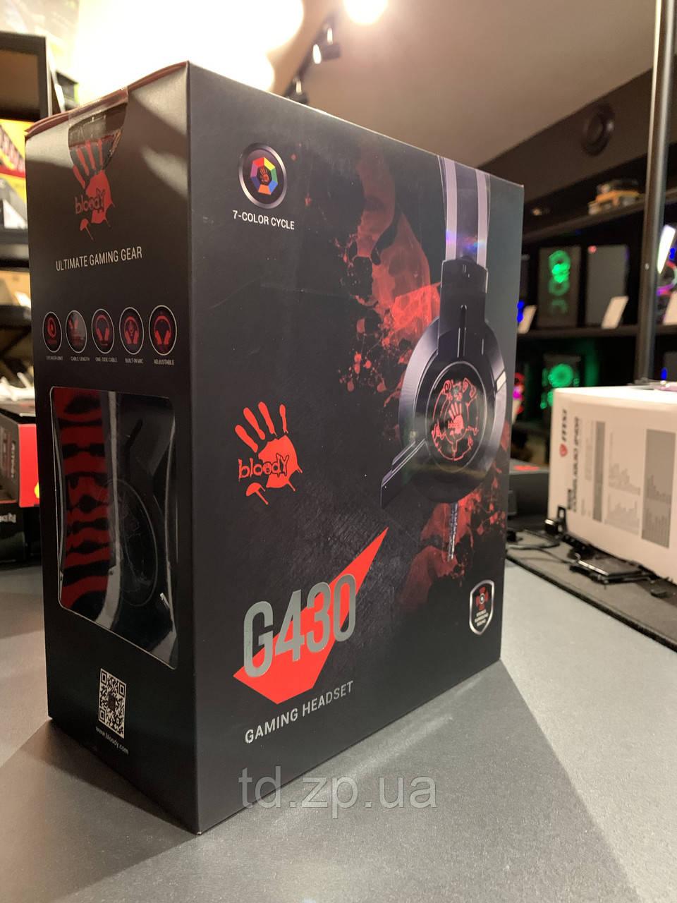 Комп'ютерна гарнітура Bloody G430 Black