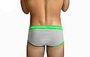 Труси Calvin Klein серії 365. Колір: сірий з зеленою гумкою, фото 2