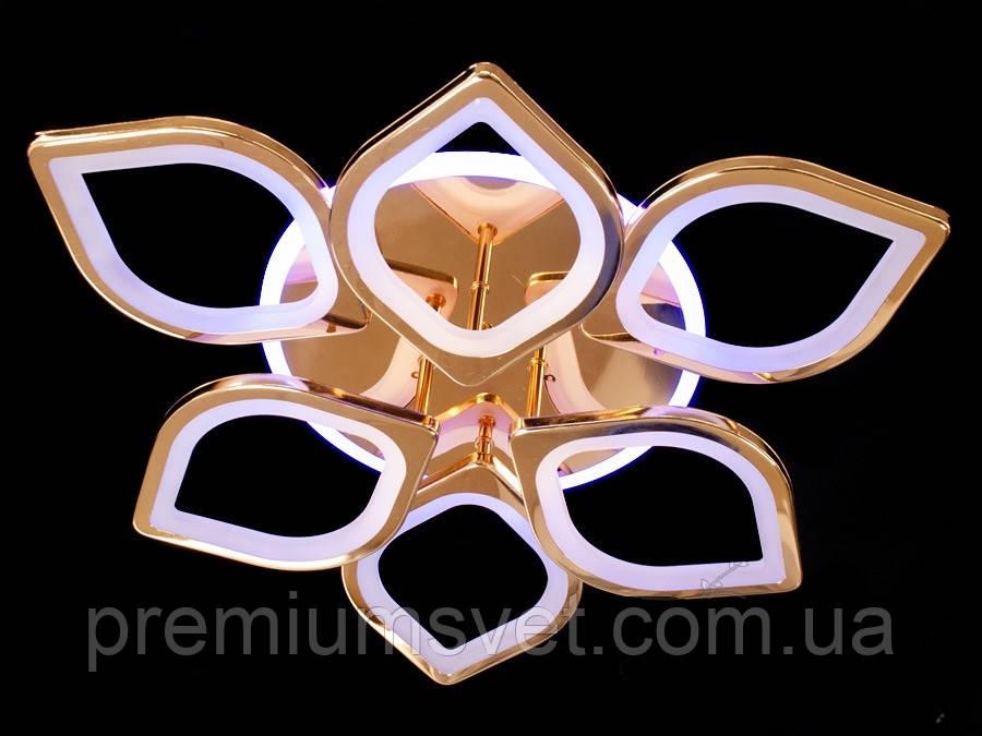 Люстра потолочная, светодиодная, основание  хром S8073/3+3 HR LED 3color dimmer