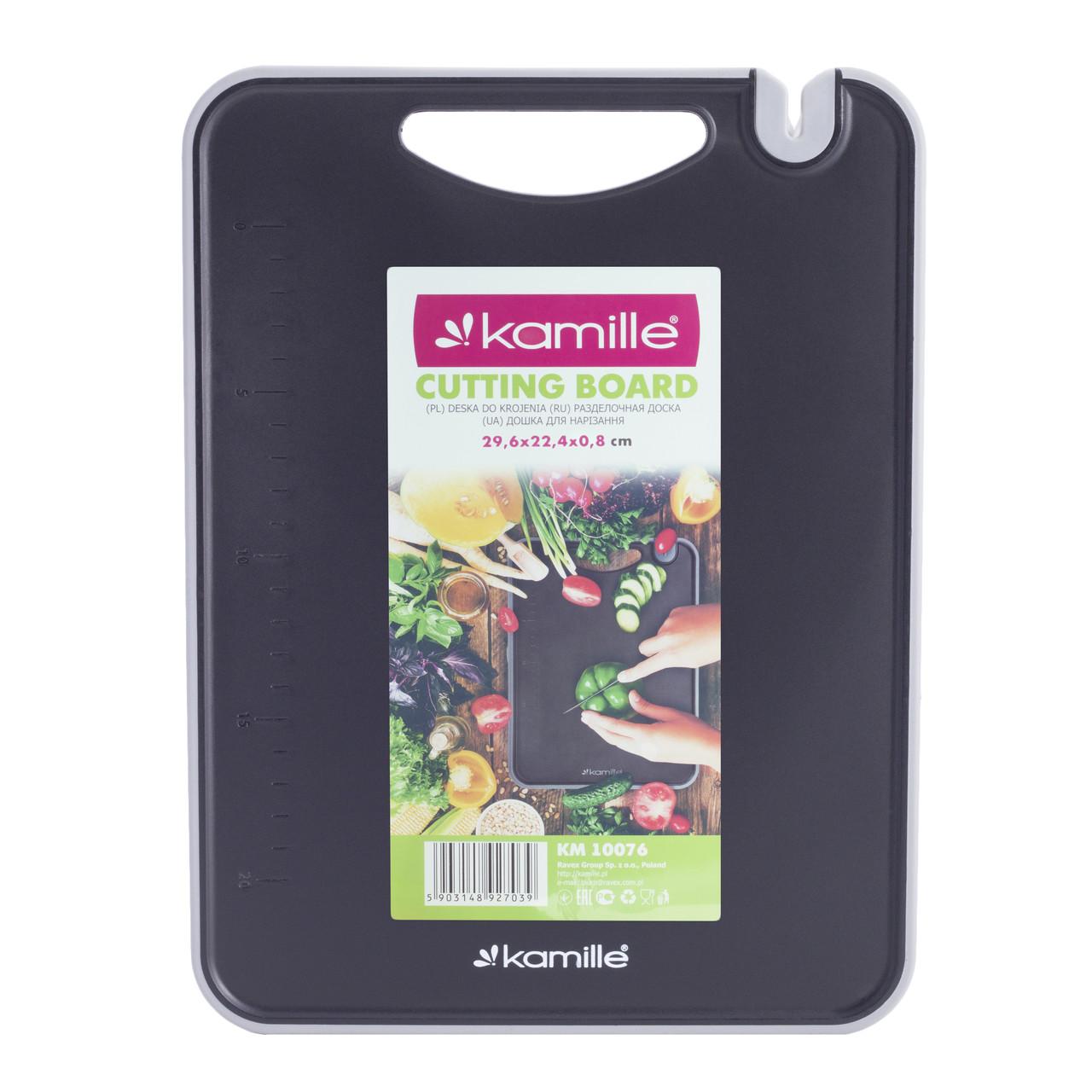 Доска разделочная Kamille 29,6х22,4х0.8см пластиковая KM-10076