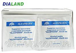 Салфетки спиртовые Alexpharm - 10 штук
