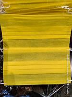 Маска 3-х слойная, желтая