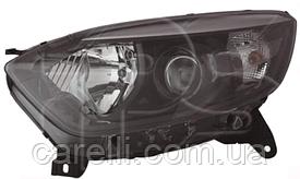 Фара левая электро H1+H1 черный рант+черный окуляр для Renault Captur 2013-17