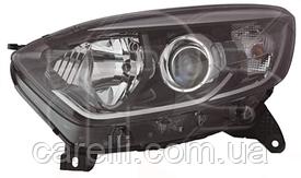 Фара левая электро H1+H1 хром рант+хром окуляр для Renault Captur 2013-17