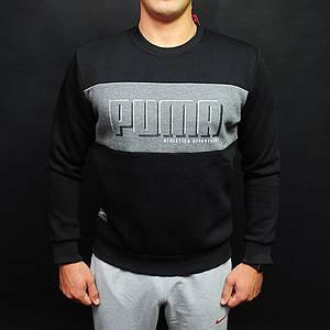 Мужской черный свитшот Puma Rebel